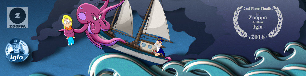 SiLee Films Animation Zooppa Kaptn Iglo Advert Animation and Poster illustration project